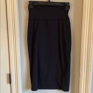 Black lululemon maxi skirt